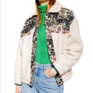 🆕 TOP SHOP shearling fleece jacket- size XS